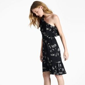 Lucky Brand One Shoulder Botanical Floral Dress